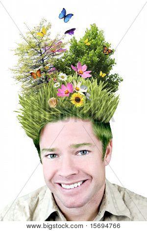 Imagem de conceito - ambiente em sua mente