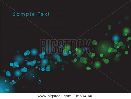 Blue and green glowy light vector background
