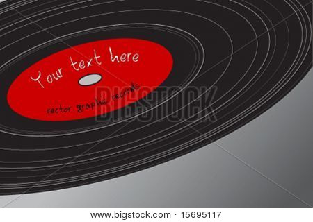 Vector graphic of an old record