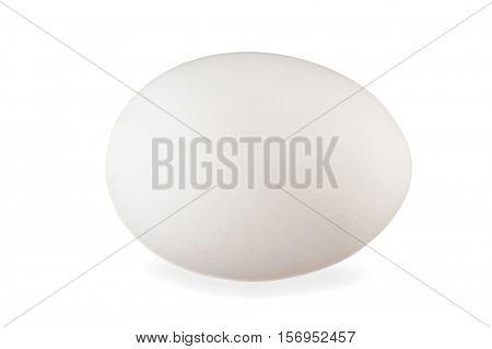 Close-up image of white egg on white background