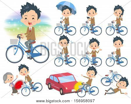 School Boy Brown Blazer Ride On City Bicycle