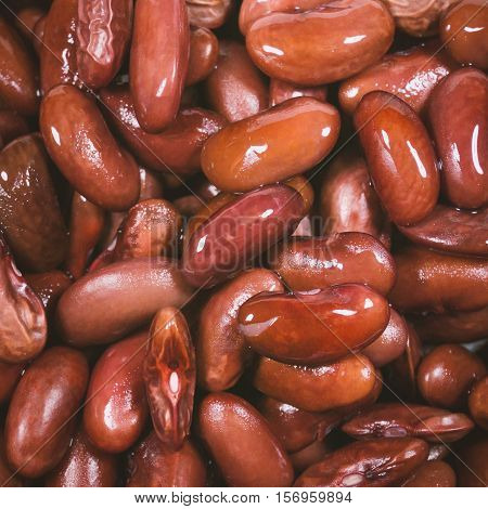 Azuki Beans Or Red Beans In Flat For Texture Background Uses
