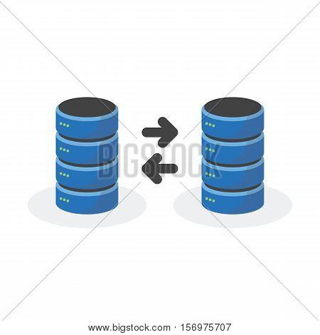 Data Storage Icon With Connect Multi Base Storage