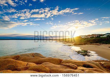 Picturesque sunset at Port Elliot Horseshoe Bay South Australia