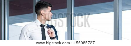 Young Businessman Without Jacket