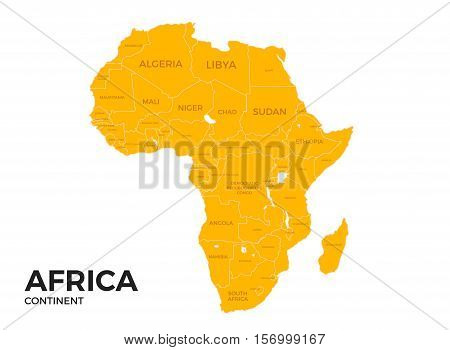 Africa Continent Location Modern Vector Photo Bigstock