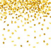 foto of confetti  - vector of falling down stars shaped confetti - JPG