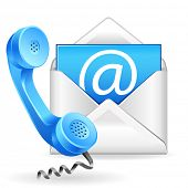 picture of helpdesk  - vector contact us icon - JPG