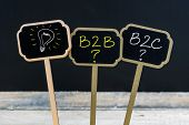 Concept Message B2B, B2C And Light Bulb As Symbol For Idea poster