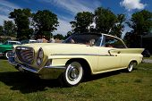 HAAPSALU, ESTONIA - JULY 18: American Beauty Car Show, showing beige 1961 Chrysler Windsor 2D HT, fr