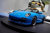 PARIS, FRANCE - SEPTEMBER 30: Paris Motor Show on September 30, 2010, showing Porsche 911 Speedster,