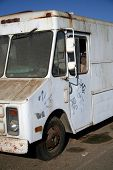 stock photo of ice-cream truck  - Rusty old abandoned truck - JPG