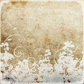 Постер, плакат: Шероховатый цветочные обои