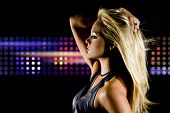 image of club party  - Beautiful woman at a night club - JPG