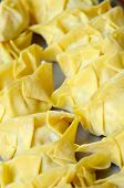 foto of wanton  - Fresh Oriental wanton dumplings ready to be cooked - JPG
