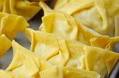 foto of wanton  - Macro shot of wanton dumpling skin - JPG