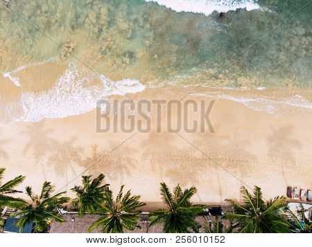 Top View Of Beautiful Beach