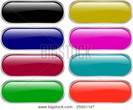 glossy web buttons - vector