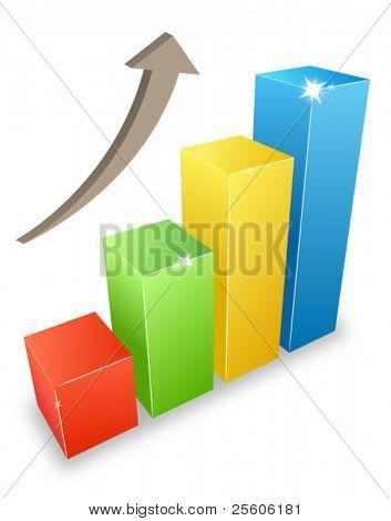 3d graph bars grow
