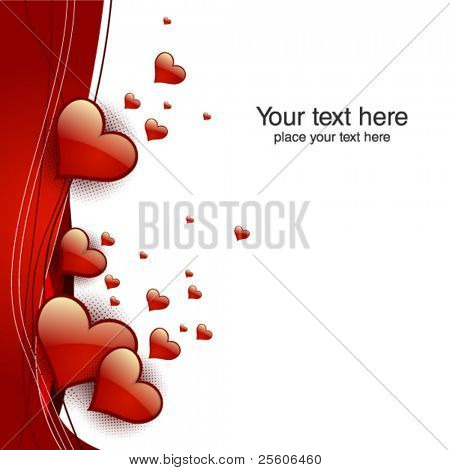 valentine hearts card. Vector illustration