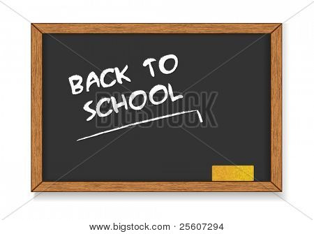 'Back to School' written on blackboard