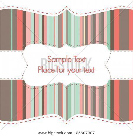 retro greeting or invitation card