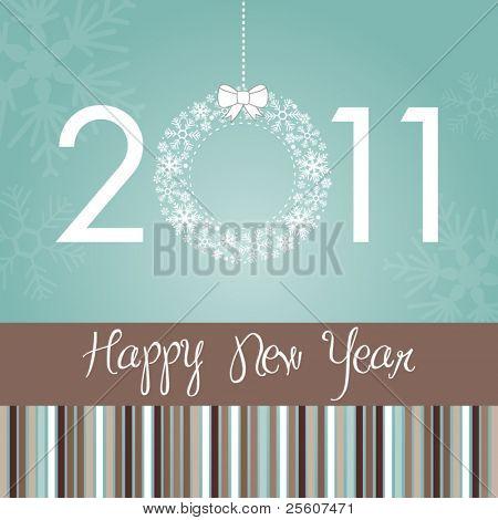 Beautiful Stylish New Year Card