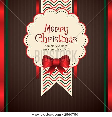Stylish Christmas Greeting Card