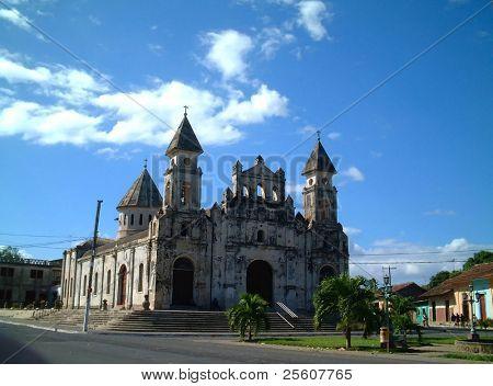 delapidated church, granada, nicaragua