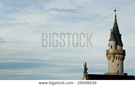 knight and tower of neuschwanstein castle