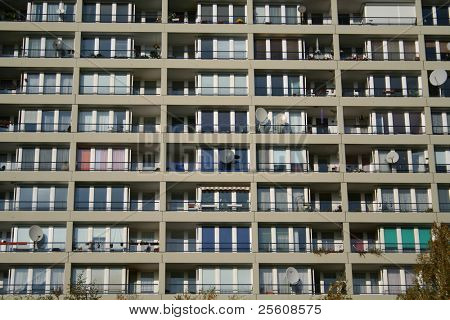 city block apartment facade, berlin, germany