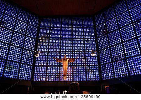 jesus in the gedaechtnis, berlin, germany