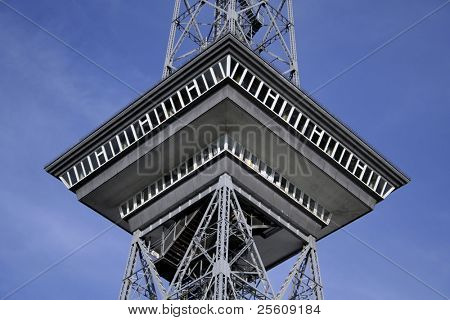 restaurant on top of the transmitter tower, berlin, germany