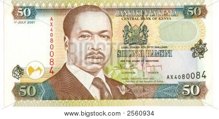 50 Shilling Bill Of Kenya, 2001