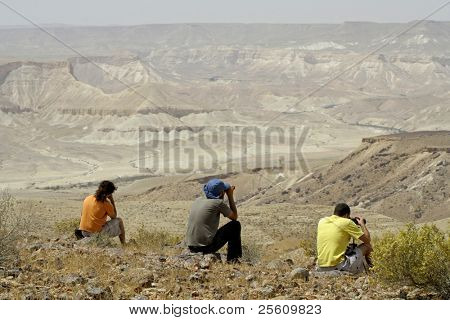 bird watcher sede boker desert, israel