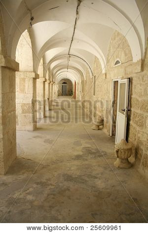 archway nativity church, bethlehem, west bank, palestine, israel