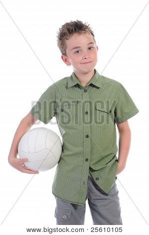 Portrait of a young football player