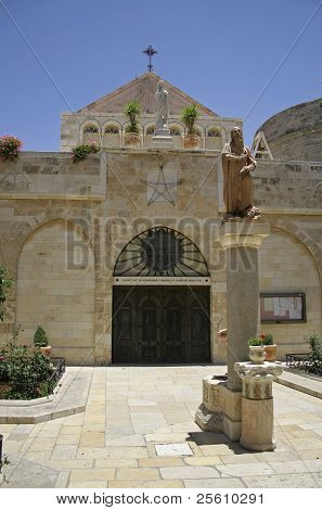 nativity church door, bethlehem, west bank, palestine, israel