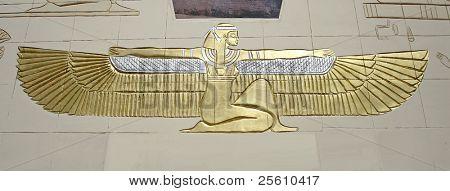 cleopatra hieroglyph mural in dahab, sinai, egypt