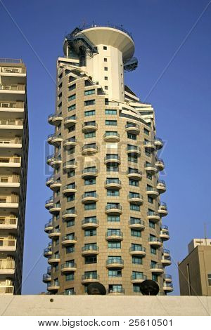 hotel tower in tel aviv, israel