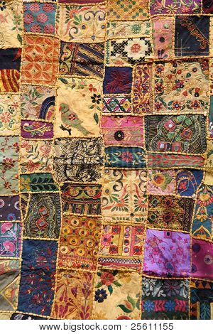 indian patchwork wall cloth