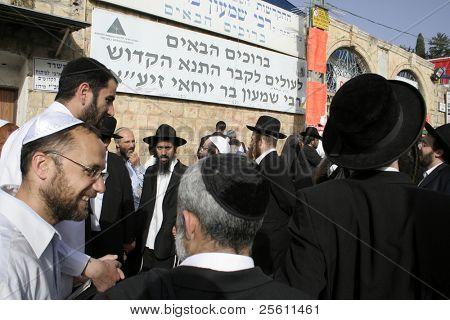 Lag Ba'omer pilgrims, meron, israel