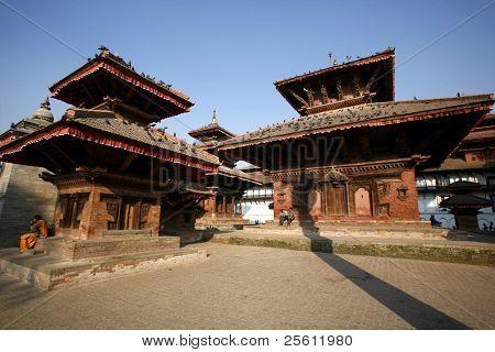 Pagoden auf dem Durbar Square in Kathmandu, nepal