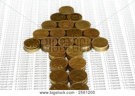 Coins In Arrow Stack