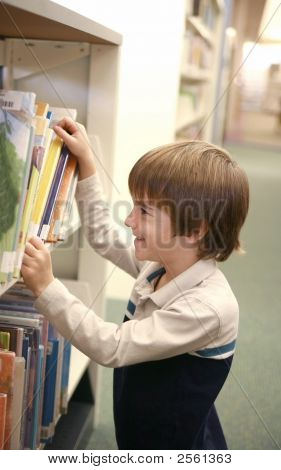 Boy At The Library