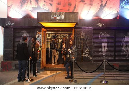 BERLIN - JANUARY 21: Hilfiger Denim stand at Bread & Butter fair on January 21, 2011 in Berlin, Germany. Tens of thousands of visitors attended the tradeshow this year.