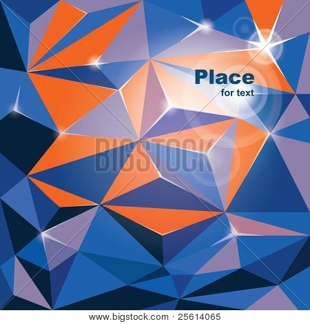 vector abstract rumpled  background