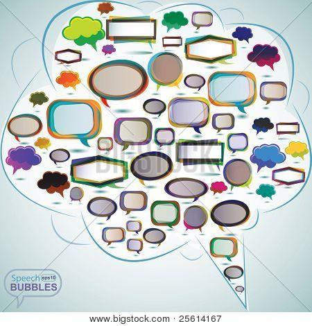 vector bubbles for speech