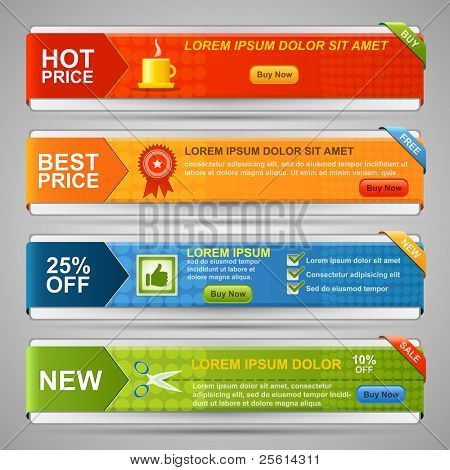Vector Web Banner Set
