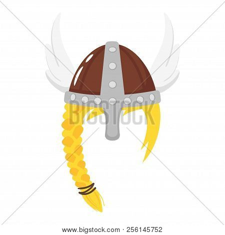 Vector Cartoon Style Viking Helmet